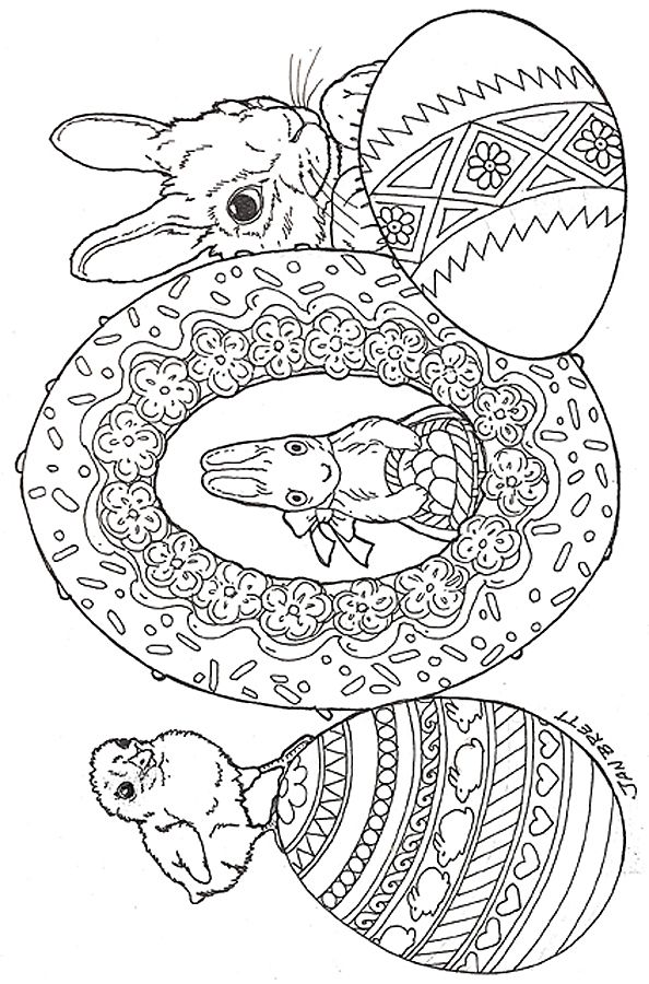 Easter Eggs coloring page Easter coloring & diy