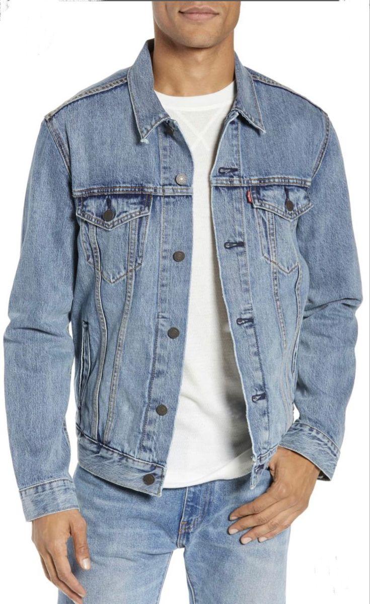 Levi S Light Wash Trucker Jacket Men S Size L Blue Jean Jacket Mens Denim Jacket Men Vintage Levis Denim Jacket [ 1200 x 735 Pixel ]