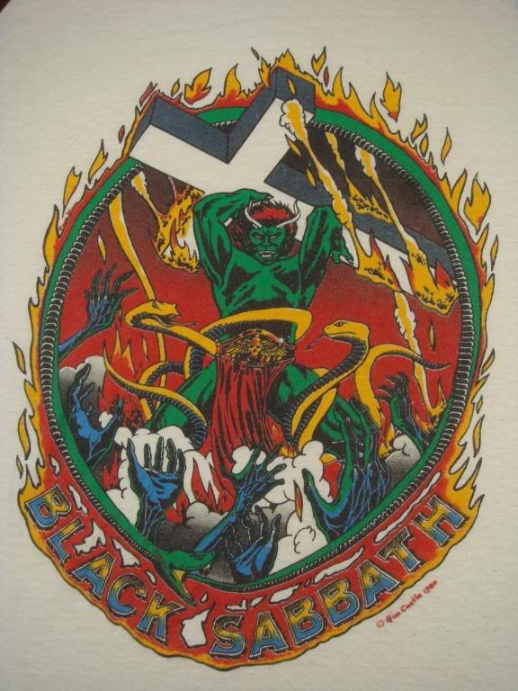 """Black Sabbath 1980 """"Green Monster"""" Tour Shirt"""