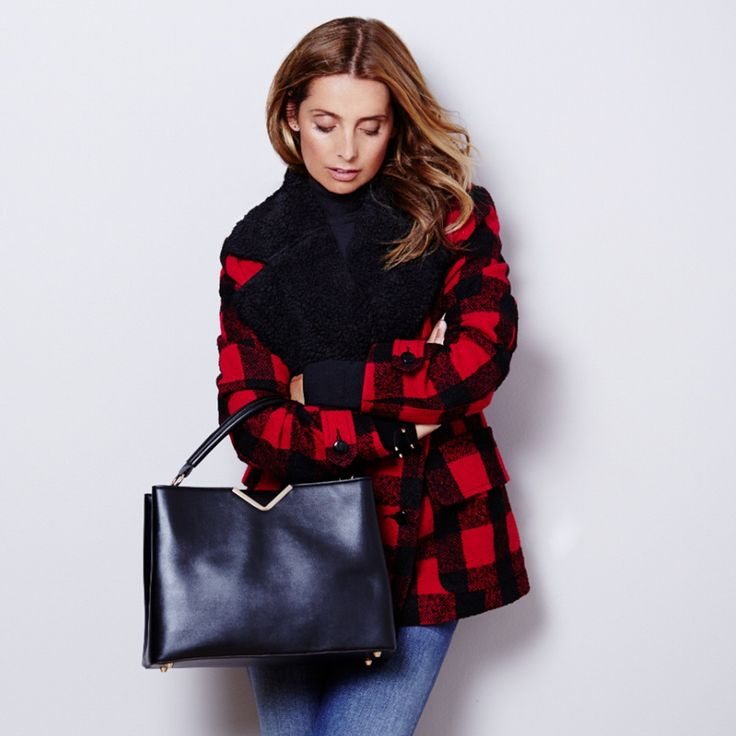 We love this tartan coat modelled by Louise Redknapp! - Fashion Tips   Good Housekeeping