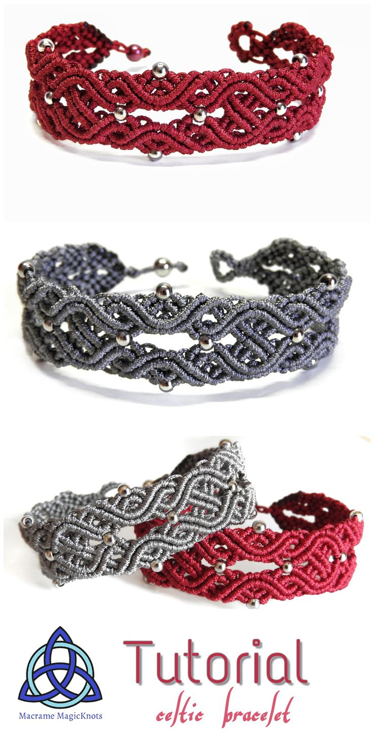 In this Macrame tutorial video you will see how to make Macrame Bracelet Celtic Knot Design • Celtic Knots are a variety of knots and stylized graphical representations of knots used for decoration, used extensively in the Celtic style of Insular art. Most are endless knots, and many are varieties of basket weave knots. #macrame #macramebracelet #jewelry #handmade #celtic #bracelet #craft #diy #howto #tutorial #crafty #idea #gift #menbracelet #youtube
