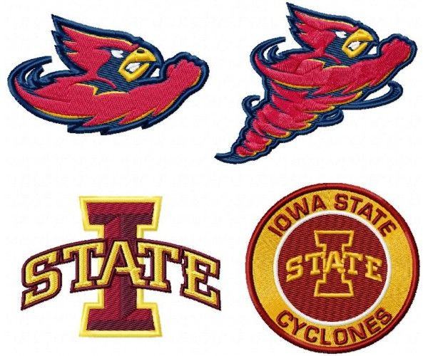 Iowa State Ciclones logo machine embroidery design for instant download