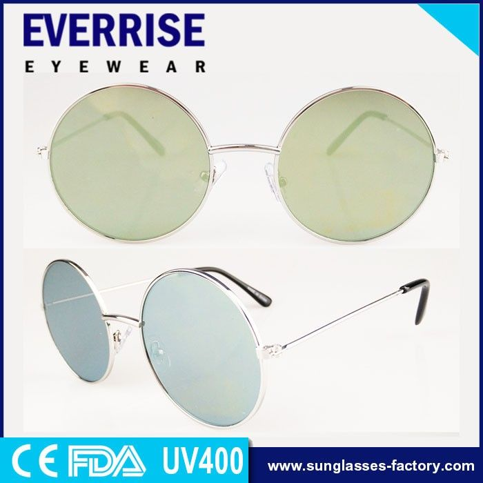 Round metal sunglasses for high quality promotion ,classical style,custom logo CE,FDA