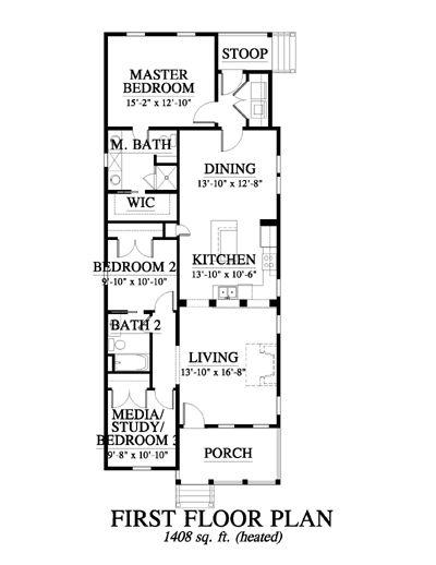 36 best images about cottage shotgun floor plans on for Shotgun house floor plan