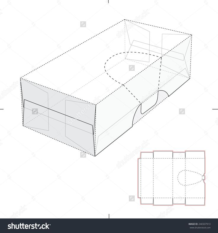 Perforated Resealable Dispenser Box With Die Cut Template Stock Vector Illustration 246507913 : Shutterstock