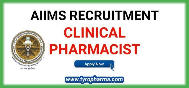 Aiims Recruitment 2019 Clinical Pharmacist Bhubaneshwar Pharmacist Job Pharmacist Doctor Of Pharmacy Clinic