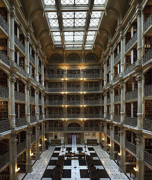 Johns Hopkins Library looks like something out of Harry Potter.  I like!
