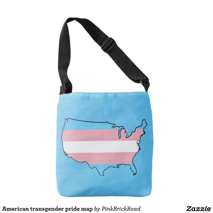 American transgender pride map tote bag