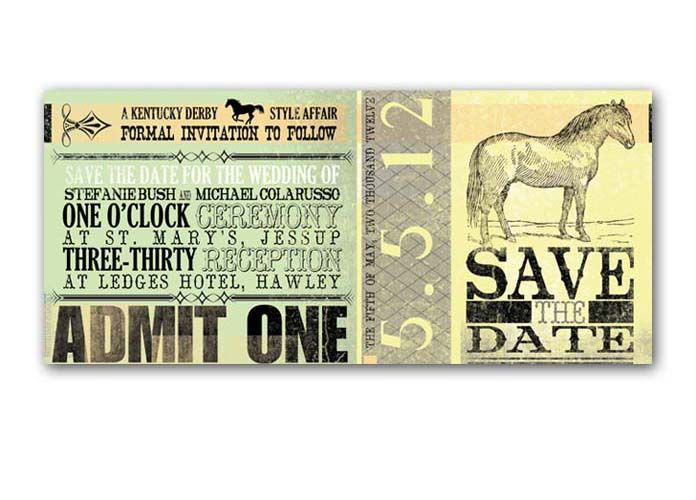 kentucky derby wedding invitations | Kentucky Derby-Style Wedding Save the Date