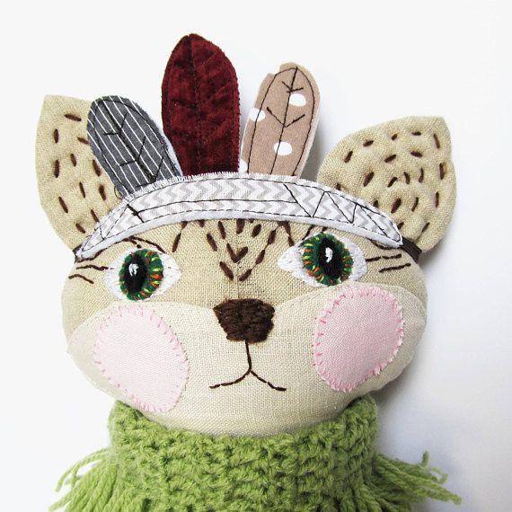 Cat stuffed animal Toddler toy Cat doll Dress up doll Cat #ragdoll #stuffedanimal #fabricdoll