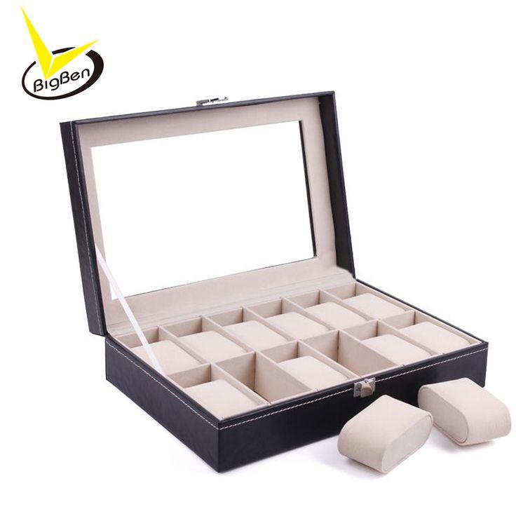 New Luxury 12 Grid Leather Watch Box Jewelry Display Collection Storage Case Watch Organizer Box Holder reloj caixa relogio