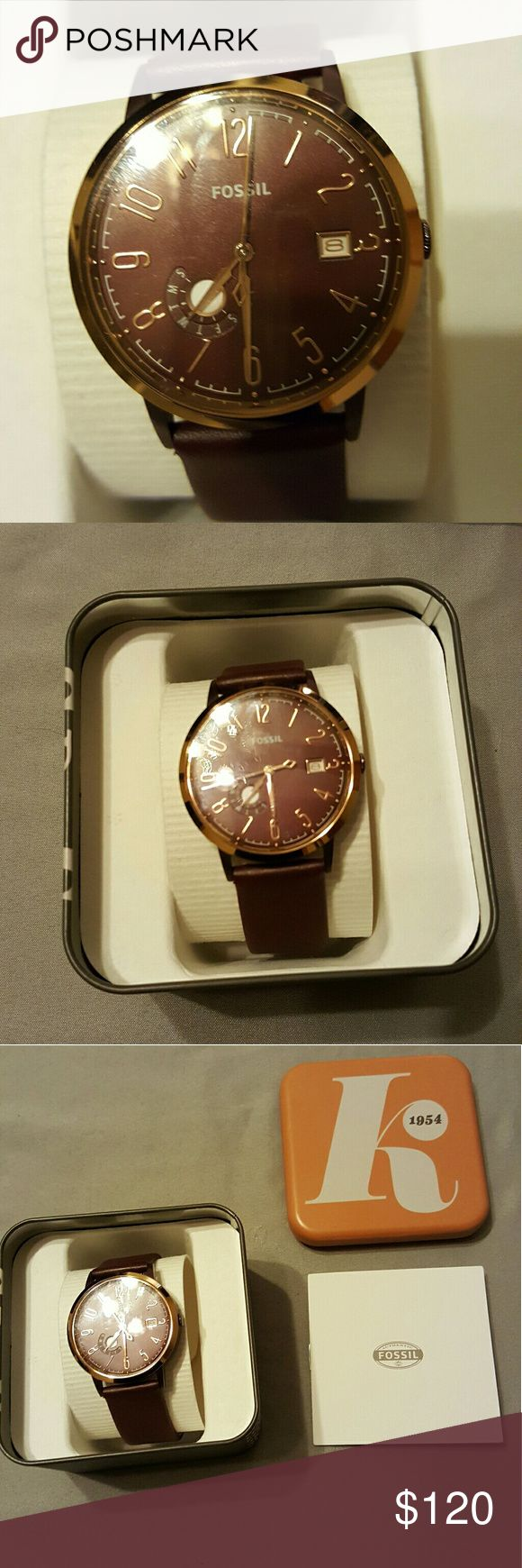 Fossil ladies watch Brand new leather Fossil watch Fossil Other