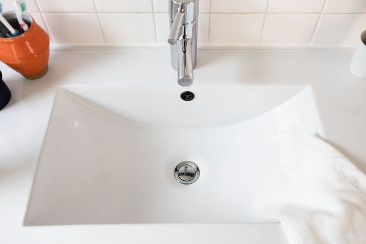 Got a bathroom sink drain that smells heres how to clean
