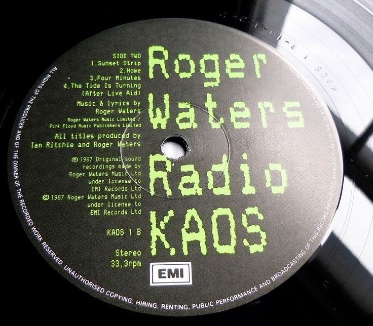ROGER WATERS (PINK FLOYD) Radio KAOS 1987 UK 1st PRESS w/INNER & POSTER - NM