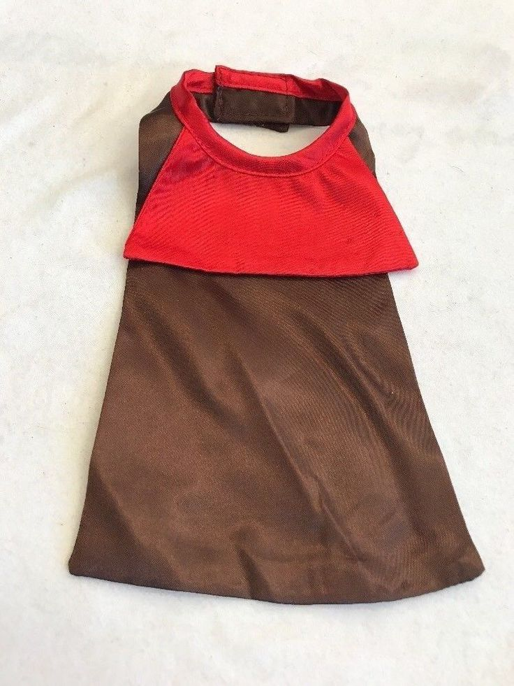 Pet Clothes Apparel Outfit Hamster Mouse Ferret Costume One Size Brown Red Cape #Unbranded