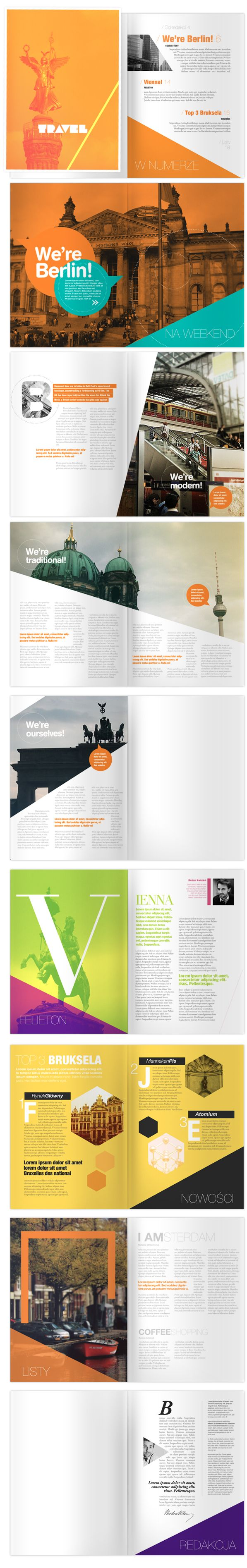 TRAVEL Magazine, good editorial graphic design
