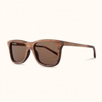 Kerbholz Justus Sonnenbrille aus Holz (Zebrano)