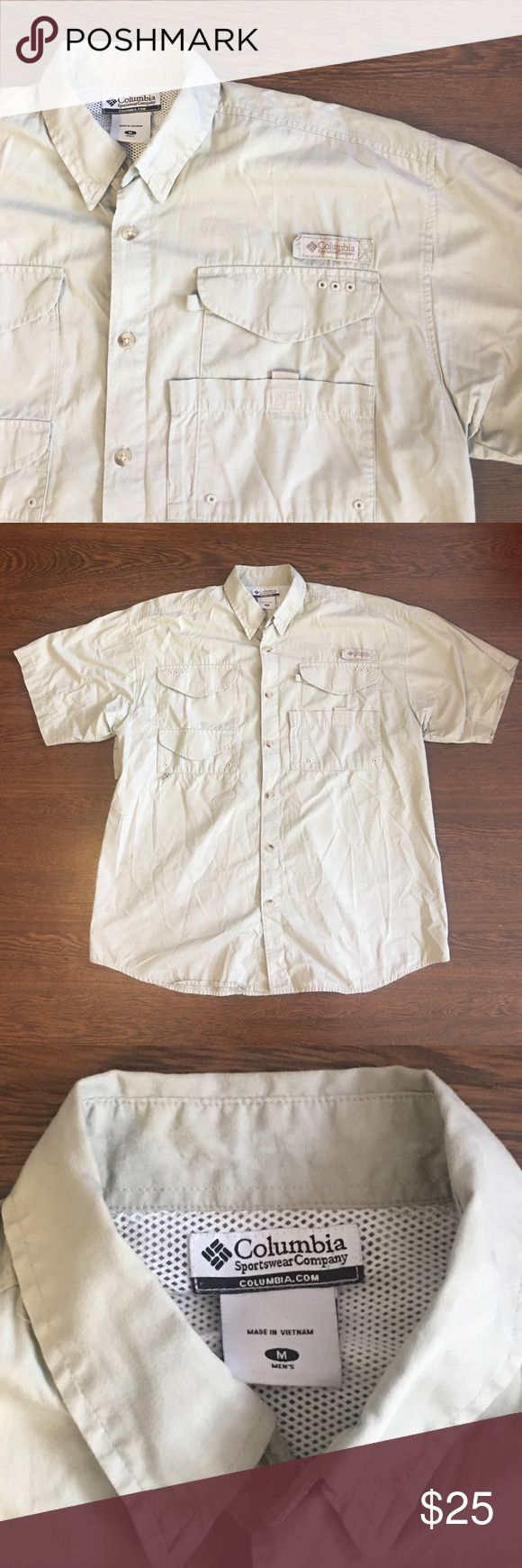 Columbia Sportswear Company PFG Shirt Size Medium Columbia Sportswear Company PFG Shirt. Performance Fishing Gear. Men's Size Medium. Small Spot On Right Side. Overall Great Pre Owned Condition. Columbia Shirts Casual Button Down Shirts
