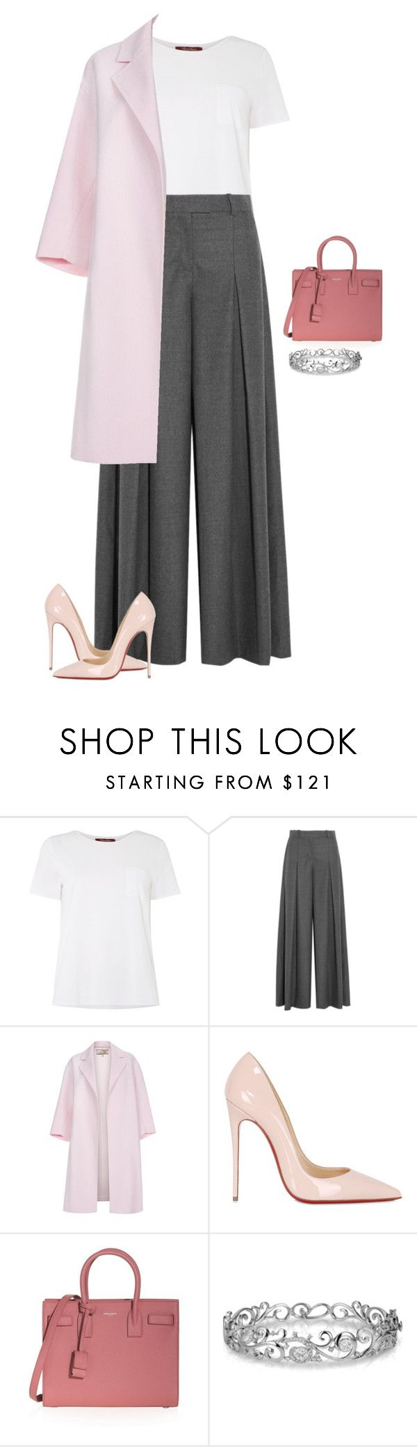 """""""Untitled #1670"""" by quaybrooks on Polyvore featuring MaxMara, J.Crew, Paul Smith, Christian Louboutin, Yves Saint Laurent, Effy Jewelry, women's clothing, women, female and woman"""