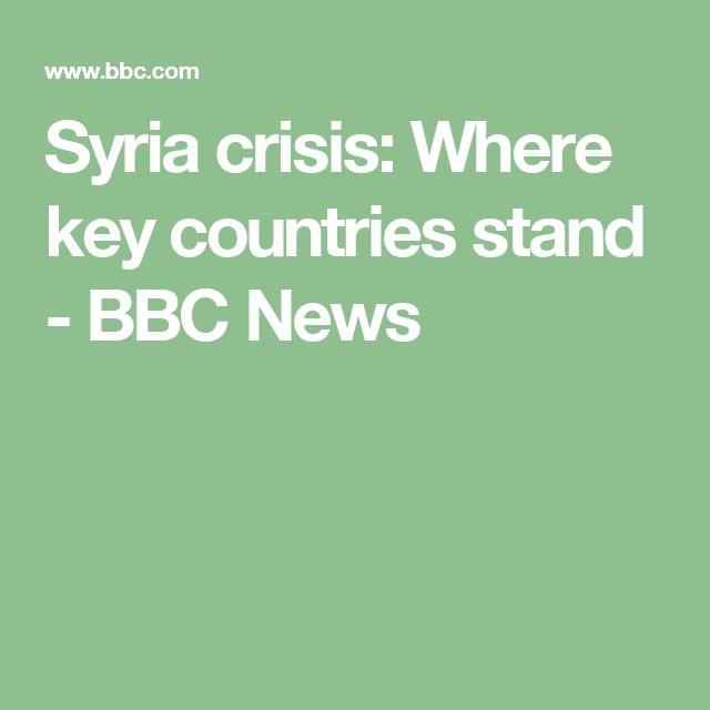 Syria crisis: Where key countries stand - BBC News