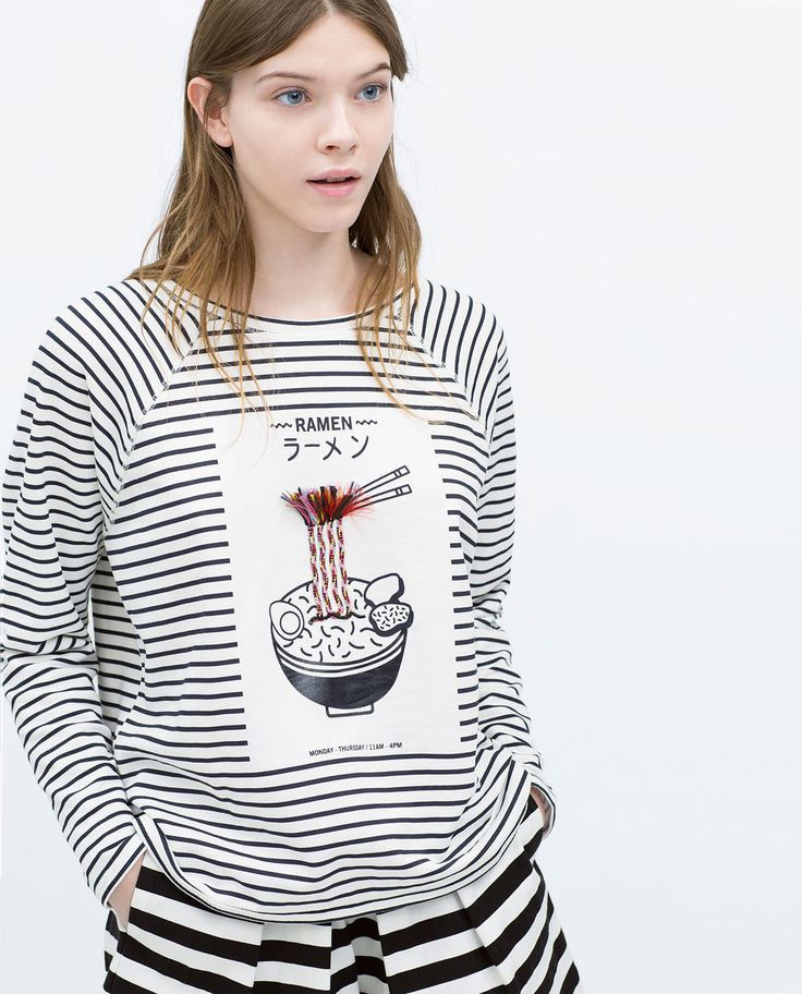 SWEATSHIRT WITH APPLIQUÉ from Zara   why do i like this rlly