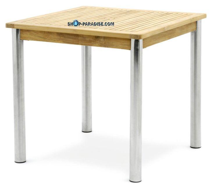 SHOP-PARADISE.COM:  Стол квадратный из тикового дерева и нержавеющей стали Triodia 327,72 €