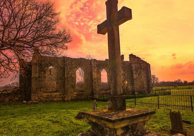 St Dominic's Catholic Church Ruins - D'hanis, Texas by Georgeandrew, via Flickr