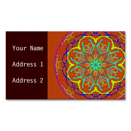 Magic Flower Mandala Business Card