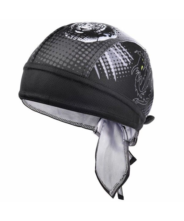 Sweat Wicking Beanie Skull Cap Quick Dry Adjustable Cycling Hat Wrap Rag Men Women Dragon Tiger Pattern Cw17x3m5r9m Cycling Hat Hunting Clothes Head Wraps