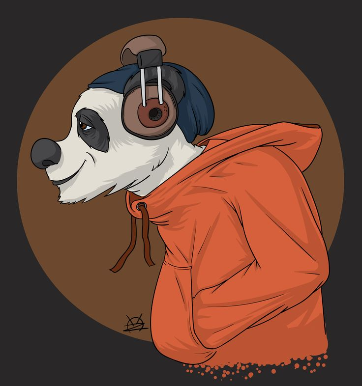 A chill panda