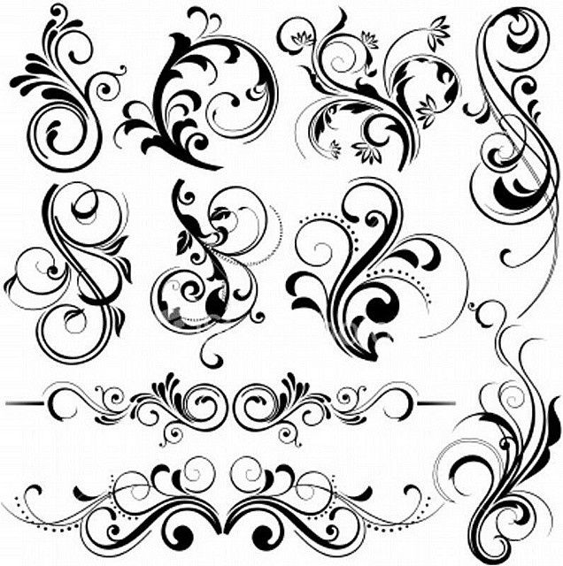 Rosemaling details--possible tatoo ideas
