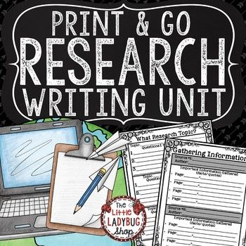 Research Paper Writing [Graphic Organizers,... by The Little Ladybug Shop | Teachers Pay Teachers