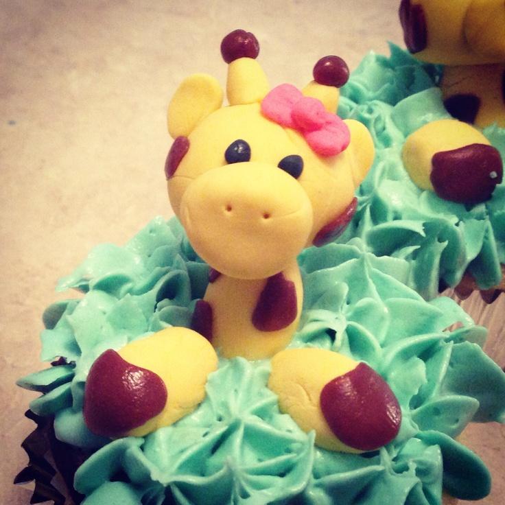 Giraffes cupcakes