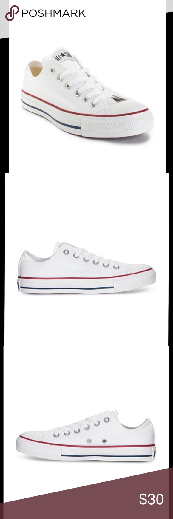 White Converse - Women's - Size 8 Women's White Converse, size 8!! been worn maybe 5 times - very good shape!!! Converse Shoes Sneakers