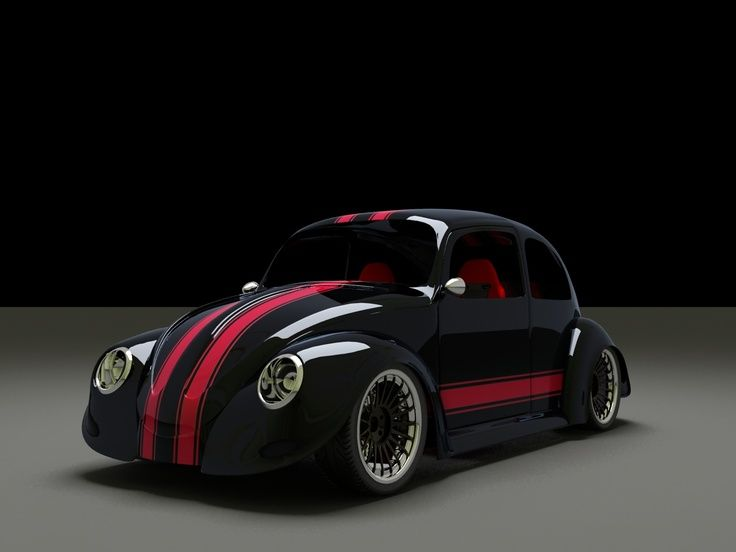 Cool red and black Beetle #CarFlash   VW Beetle ...