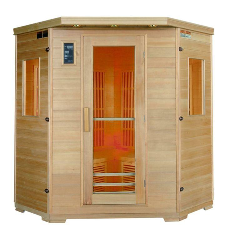 Sauna infrarouge en cèdre rouge – 3/4 places - Luxury - Tek Import : www.tekimport.fr