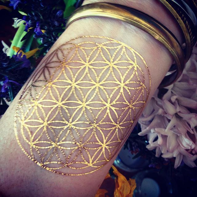 Permanent gold tattoo ink images for Permanent metallic ink tattoos