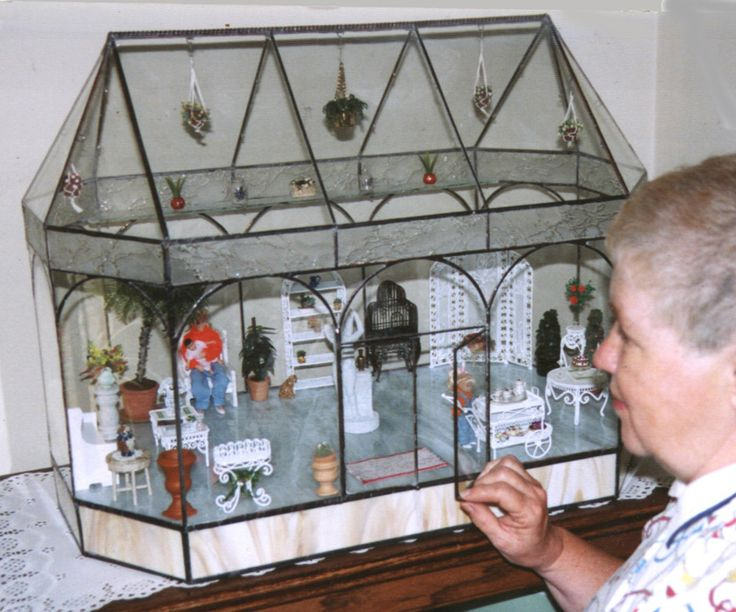 Stained Glass Miniature Conservatory | Doll Making ...