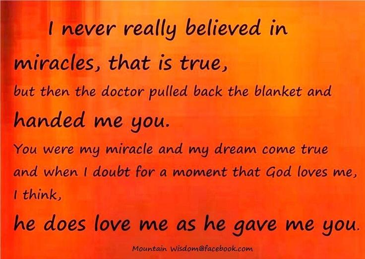 My miracle...Joseph Charles! :-)