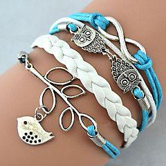 Bracelet+Charm+Bracelet+Wrap+Bracelet+Leather+Bracelet+Multilayer+Alloy+Owl+Leaves+and+Infinity+Charms+Handmade+Jewelry+Christmas+Gifts+1pc+–+USD+$+3.99
