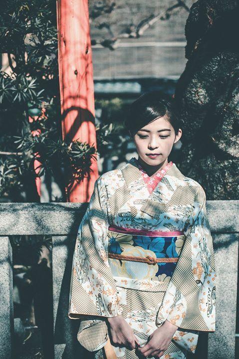 Kimono à décor de rivière et de damier,   par Ivan KT, Japan