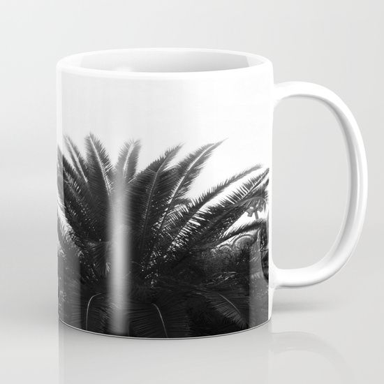 Palm tree Mug by ARTbyJWP from Society6 #mug #coffeemug #palm #palmtree #minimal #blackandwhite  --  Available in 11 and 15 ounce sizes, our premium ceramic coffee mugs feature wrap-around art and large handles for easy gripping. Dishwasher and microwave safe, these cool coffee mugs will be your new favorite way to consume hot or cold beverages.