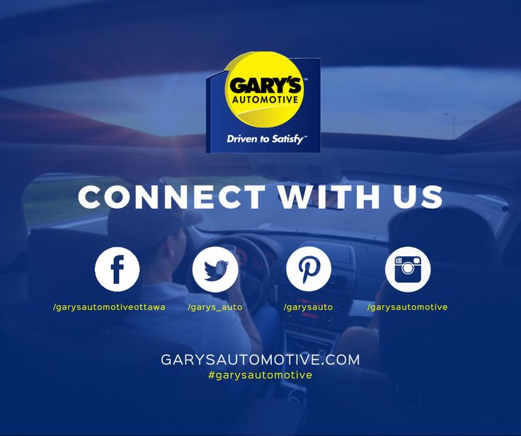 Get social with Gary's Automotive! Find us on Facebook, Twitter, Pinterest and Instagram to keep up with promotions, car care tips and more. #garysautomotive #ottawa