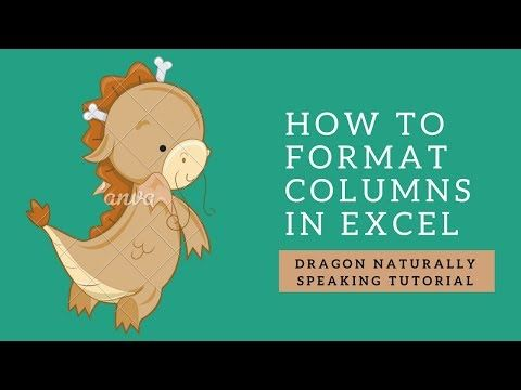 How to format a column in #microsoft  #excel  using #speechrecognition with #DragonNaturallySpeaking? #assistivetechnology #disability #productivity