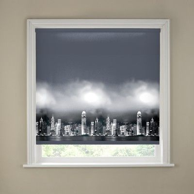 The Blackout Skyline Border Roller Blind Is A Fashionable