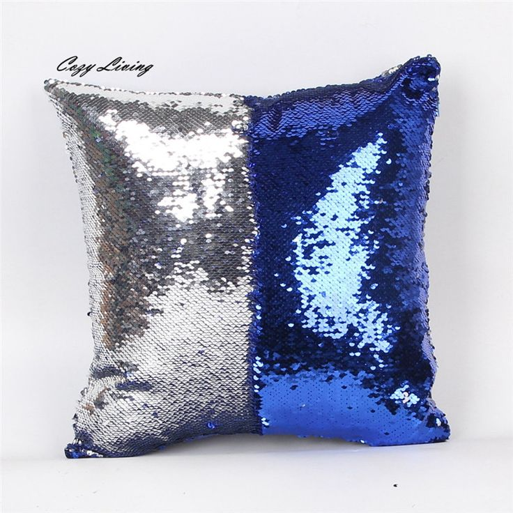 Pillow Cases 40*40CM Modern Double Colors Glitter Sequins Throw Pillow Case Fashion Pillowcases Modern Pillow Cover Xmas N28