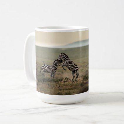 Two Plains Zebras Coffee Mug - plain gifts style diy cyo