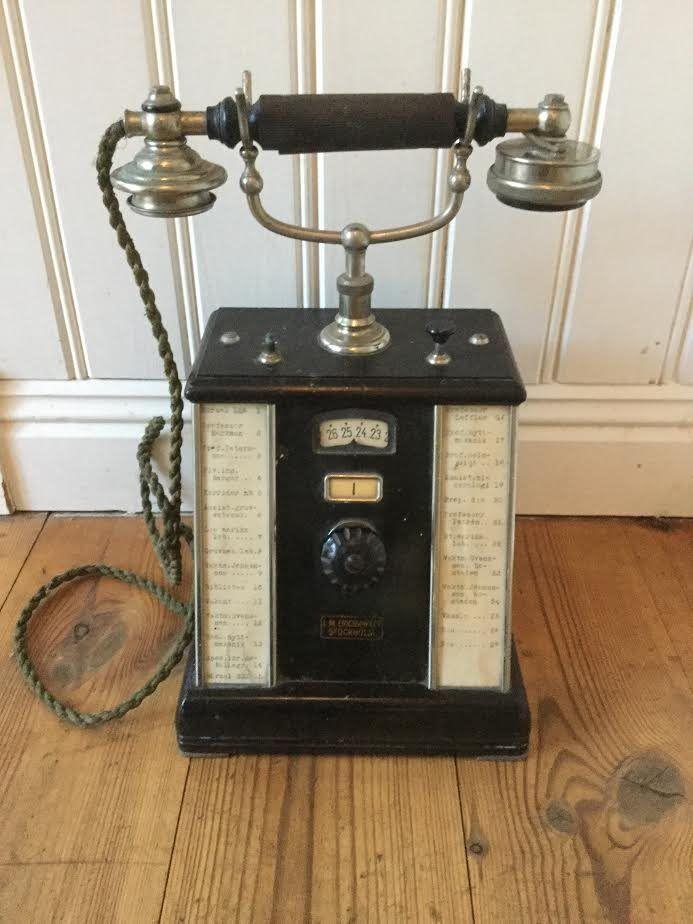 Antik telefon LM Ericsson på Tradera.com - Antika prydnadssaker |