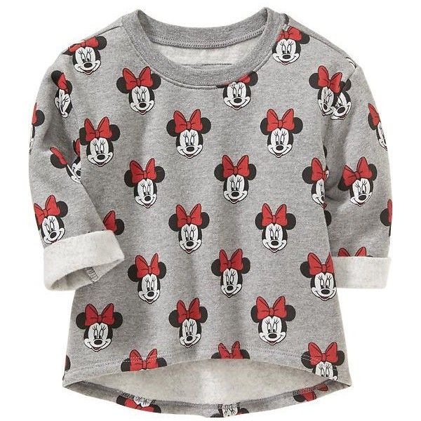 Old Navy Disney Minnie Mouse Fleece Sweatshirts For Baby Size 5T -... ($20) ❤ liked on Polyvore featuring baby and tops