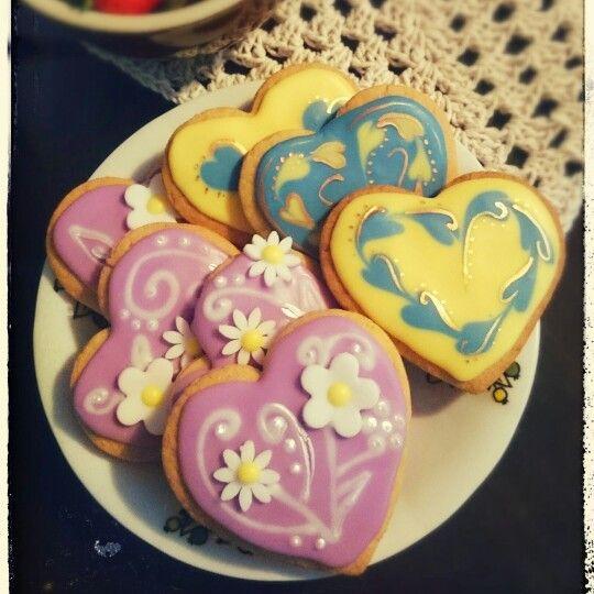 Sugar iced cookies